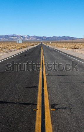 long highway through desert Stock photo © clearviewstock