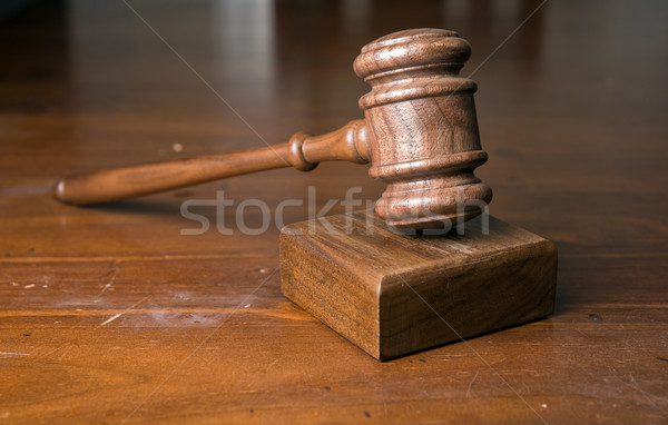 judges gavel on table Stock photo © clearviewstock