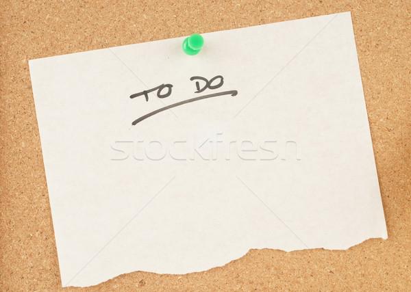 Notas imagem nota escritório conselho Foto stock © clearviewstock