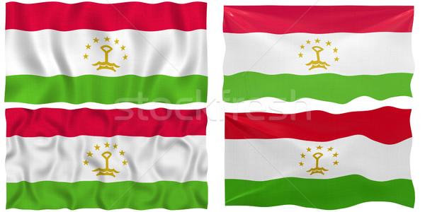 Zászló Tádzsikisztán nagyszerű kép Stock fotó © clearviewstock