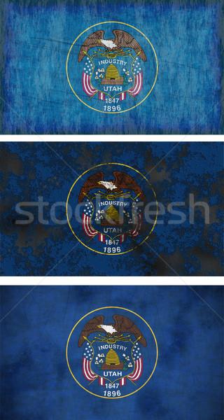 флаг Юта изображение фон грязные Сток-фото © clearviewstock