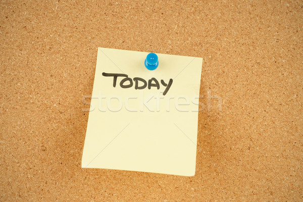 notes on corkboard Stock photo © clearviewstock