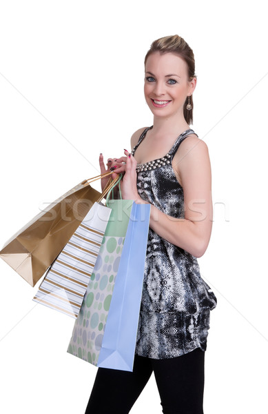 young woman with shopping Stock photo © clearviewstock