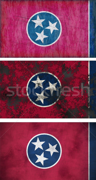 Banderą Tennessee obraz tle brudne Zdjęcia stock © clearviewstock
