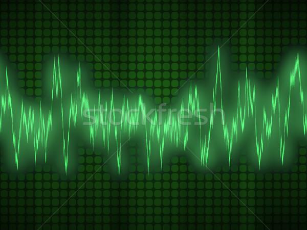 Audio hanghullám nagy kitűnő magas tech Stock fotó © clearviewstock