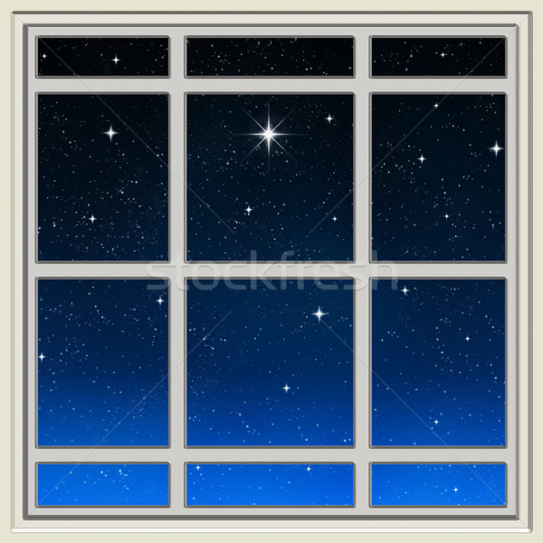 Fényes csillag ablak mező csillagok tapéta Stock fotó © clearviewstock