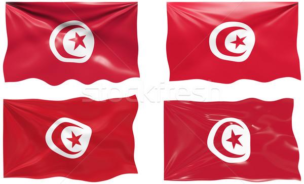 フラグ チュニジア 画像 ストックフォト © clearviewstock