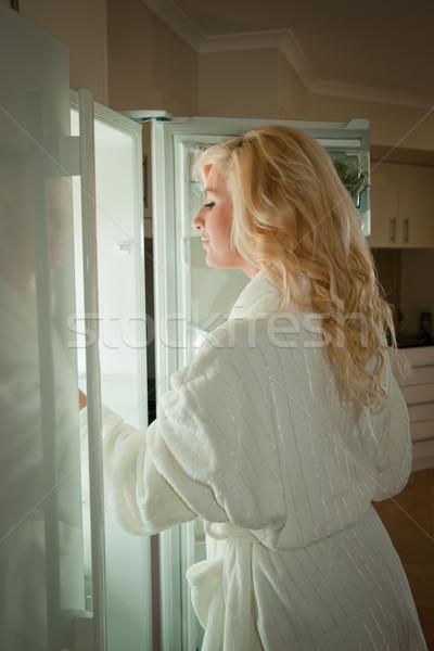глядя холодильник полночь ночь Сток-фото © clearviewstock