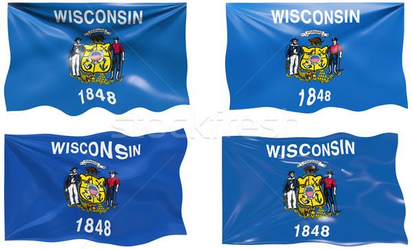 флаг Висконсин изображение Сток-фото © clearviewstock