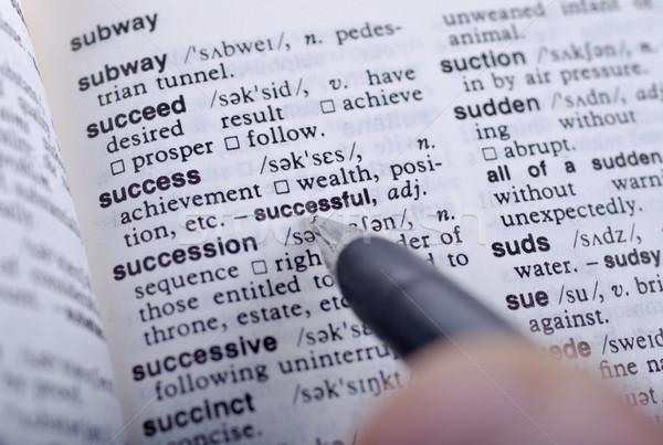 Définition succès stylo à encre affaires papier Photo stock © clearviewstock