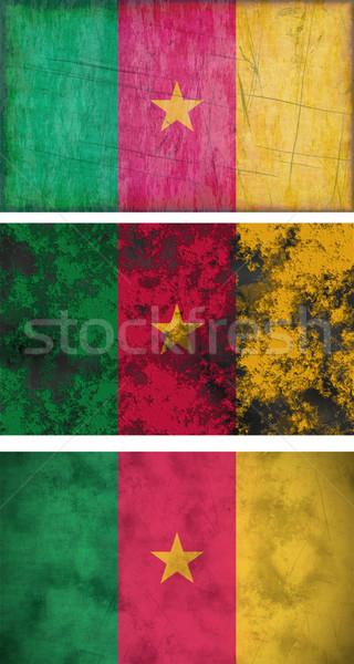 Bandeira Camarões imagem três grunge Foto stock © clearviewstock