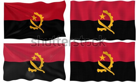 Flag of angola Stock photo © clearviewstock