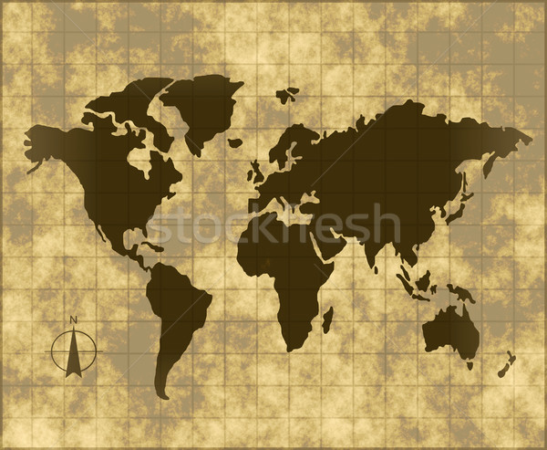 map of the world Stock photo © clearviewstock