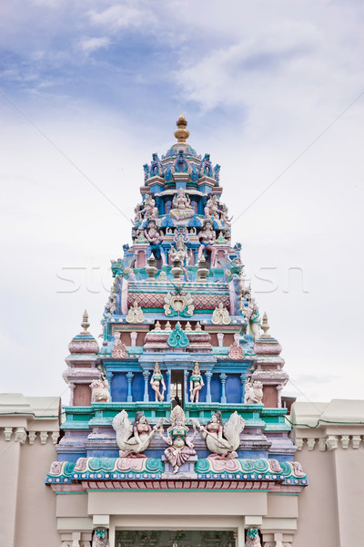 hindu temple roof in penang Stock photo © clearviewstock