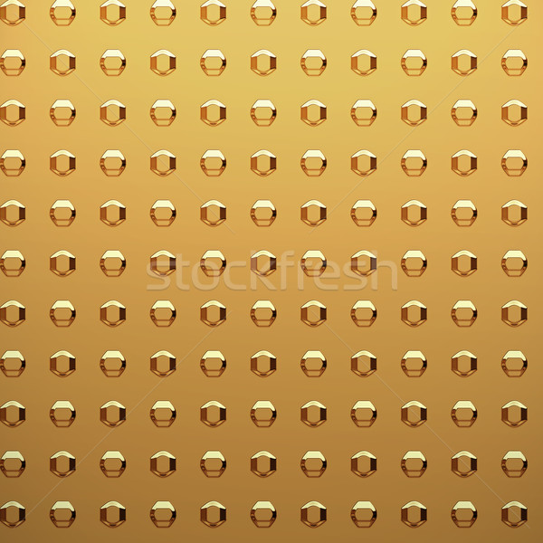 gold sheet with rivet heads Stock photo © clearviewstock