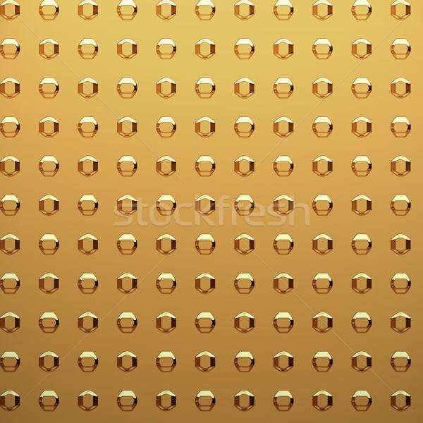 Arany lap szegecs nagy absztrakt háttér Stock fotó © clearviewstock
