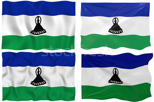 флаг Лесото изображение Сток-фото © clearviewstock