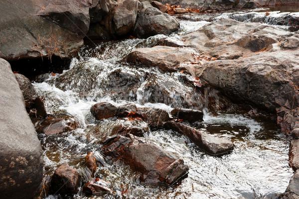 Merő tiszta víz kövek friss kicsi folyam Stock fotó © clearviewstock