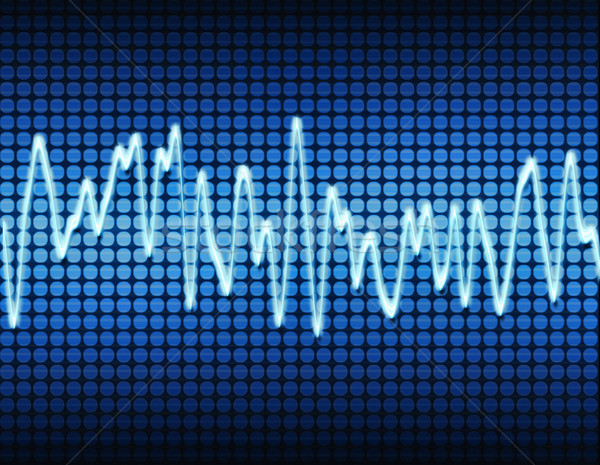 Blau elektronischen Schallwelle Sound Audio Welle Stock foto © clearviewstock