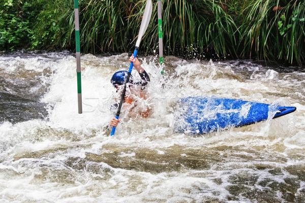 white water kayaking Stock photo © clearviewstock