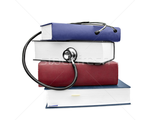 medicine health books and stethoscope Stock photo © clearviewstock