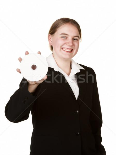 ビジネス女性 cd 高い キー 画像 ストックフォト © clearviewstock