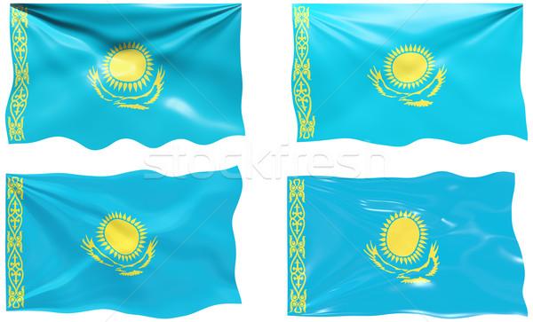 Zászló Kazahsztán nagyszerű kép Stock fotó © clearviewstock