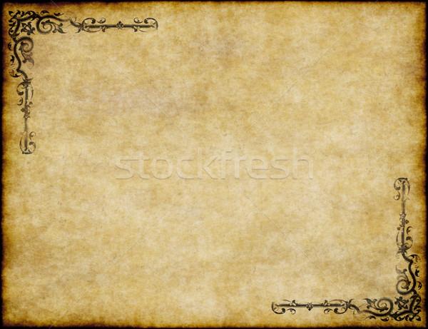 Foto stock: Pergamino · papel · textura · del · papel · diseno