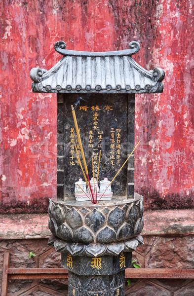 Piccolo santuario Vietnam pagoda culto Foto d'archivio © clearviewstock