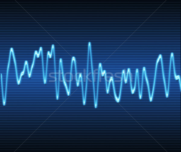 Elektronikus hanghullám nagy kép hang audio Stock fotó © clearviewstock