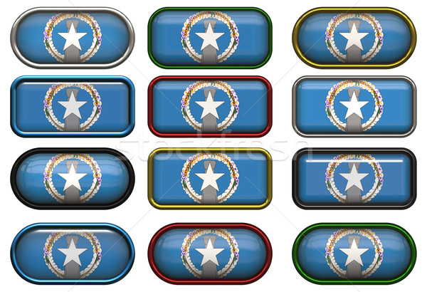 twelve buttons of the Flag of Northern Mariana Islands Stock photo © clearviewstock