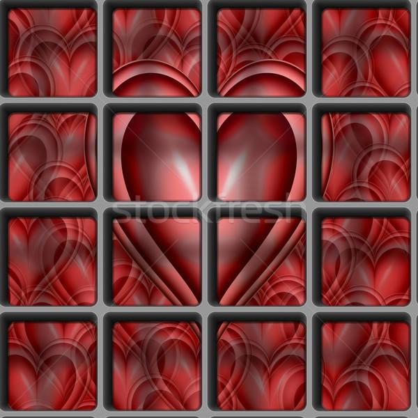 Coração trancado longe amor grande rosa Foto stock © clearviewstock