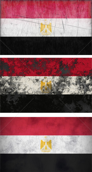 grunge flags of egypt Stock photo © clearviewstock