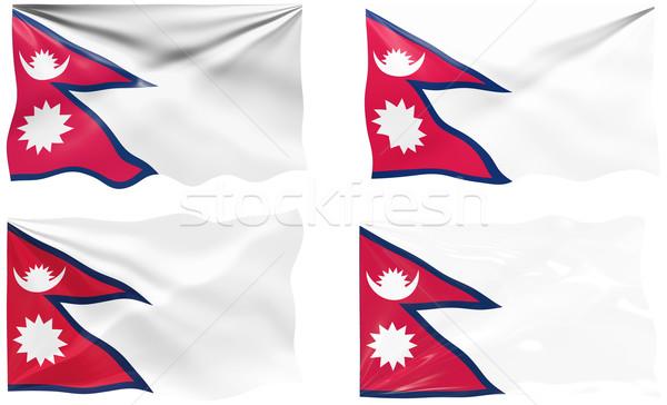 Bayrak Nepal muhteşem görüntü Stok fotoğraf © clearviewstock