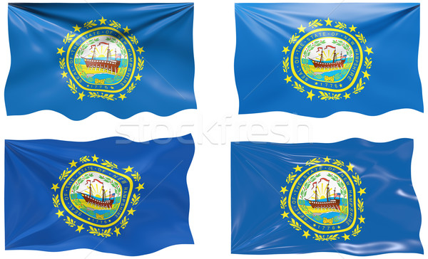 Bandera New Hampshire imagen Foto stock © clearviewstock