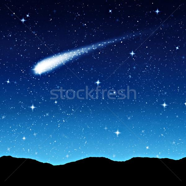 Notte cometa stella cadente spazio stelle Foto d'archivio © clearviewstock