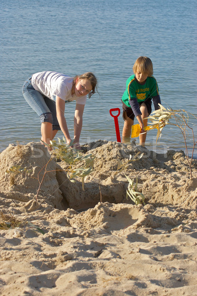 здании детей играет воды лет песок Сток-фото © clearviewstock
