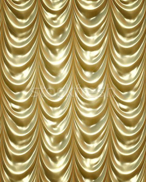 golden curtains Stock photo © clearviewstock