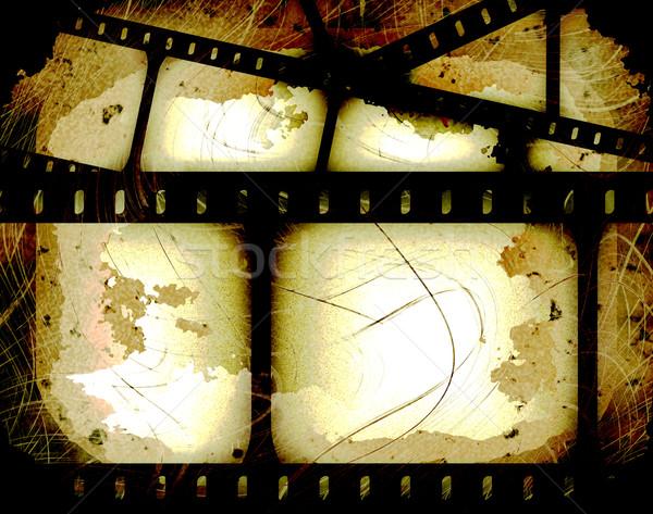 Soyut filmstrip film kareler film şeridi doku Stok fotoğraf © clearviewstock