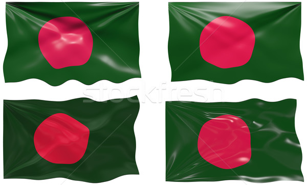 Bayrak Bangladeş muhteşem görüntü Stok fotoğraf © clearviewstock