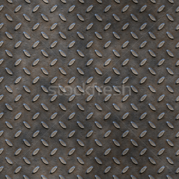 Stock photo: worn tread plate