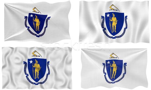 Stock fotó: Zászló · Massachusetts · nagyszerű · kép