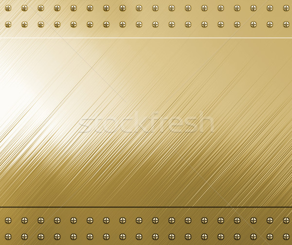 polished gold with screws Stock photo © clearviewstock