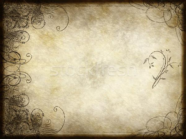 Stock photo: arabesque design on paper