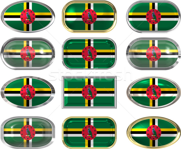 twelve buttons of the Flag of Dominica Stock photo © clearviewstock