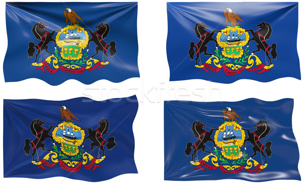 Flag of Pennsylvania Stock photo © clearviewstock