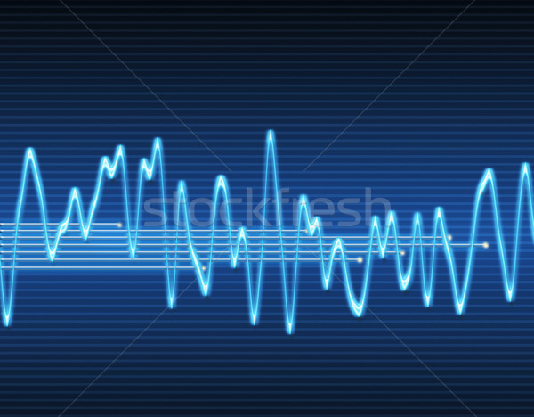 electronic sine sound wave Stock photo © clearviewstock