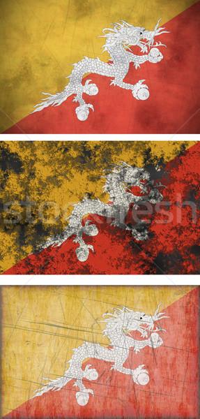 Vlag Bhutan groot afbeelding Stockfoto © clearviewstock