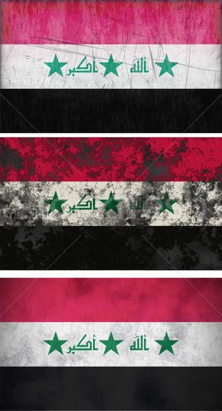 Bayrak Irak muhteşem görüntü arka plan kirli Stok fotoğraf © clearviewstock