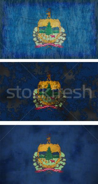 Bandeira Vermont imagem fundo sujo Foto stock © clearviewstock